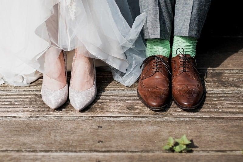 shoes bride groom