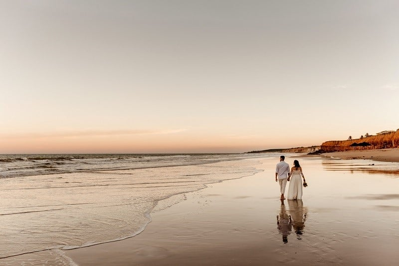 couple by beach