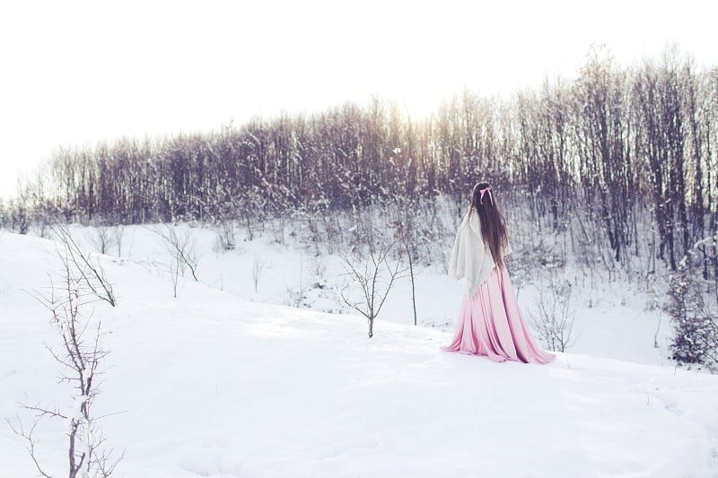woman walking winter