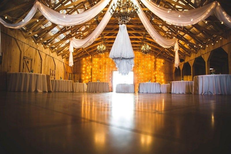 event inside barn