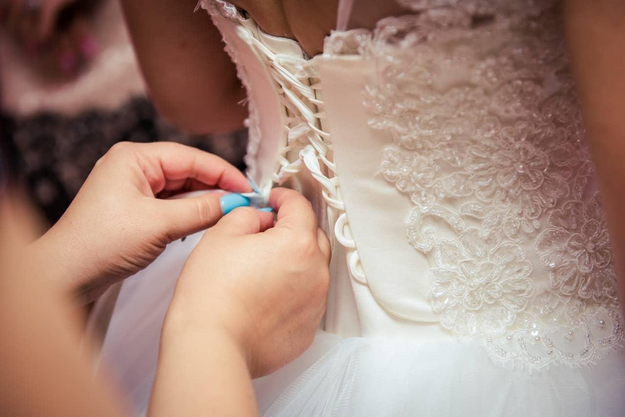 fitting wedding dress