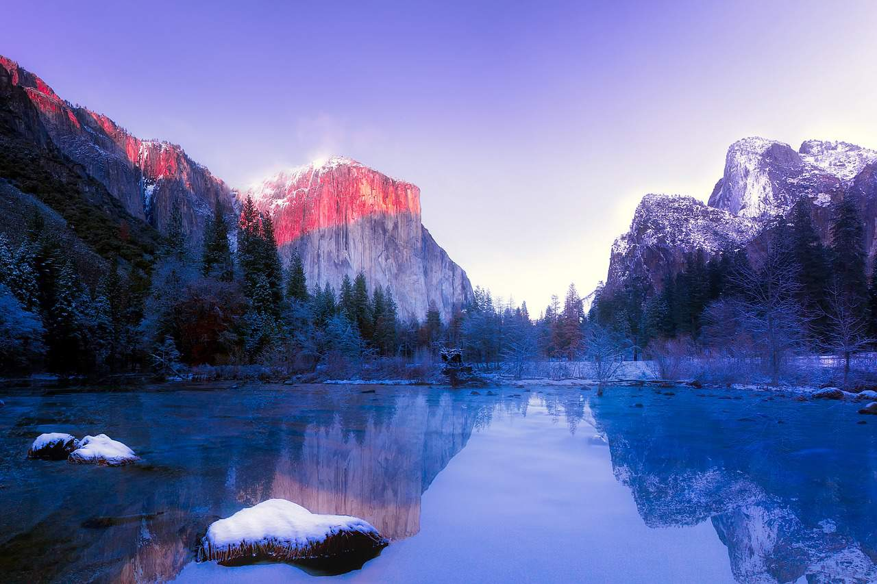 yosemite national park-winter