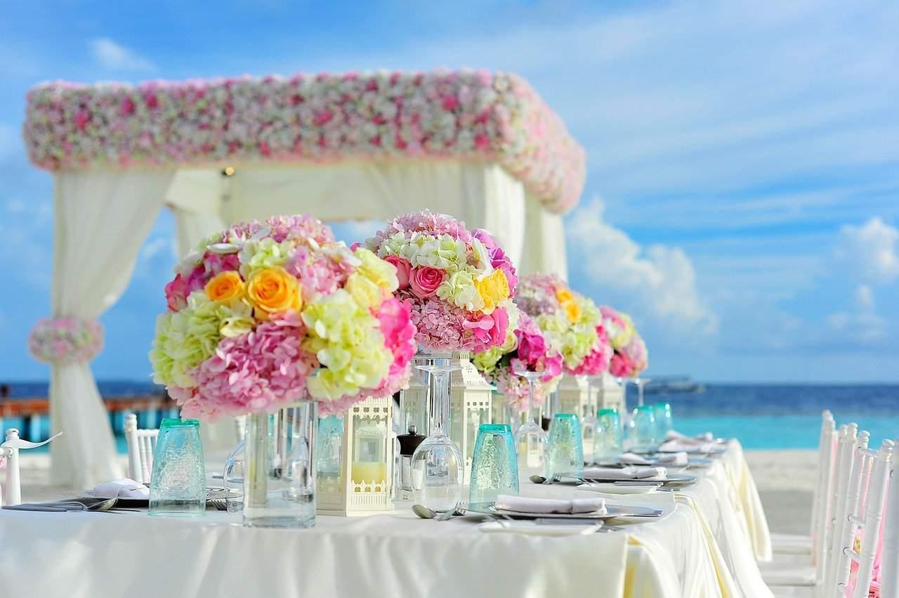 wedding day setup