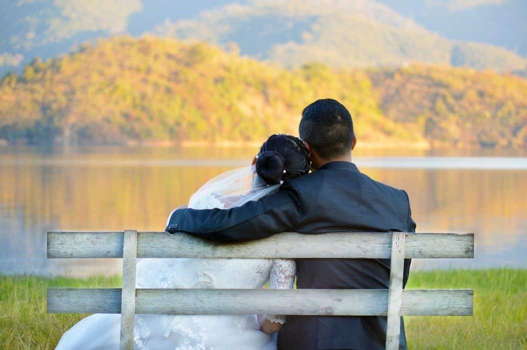 bride groom intimate