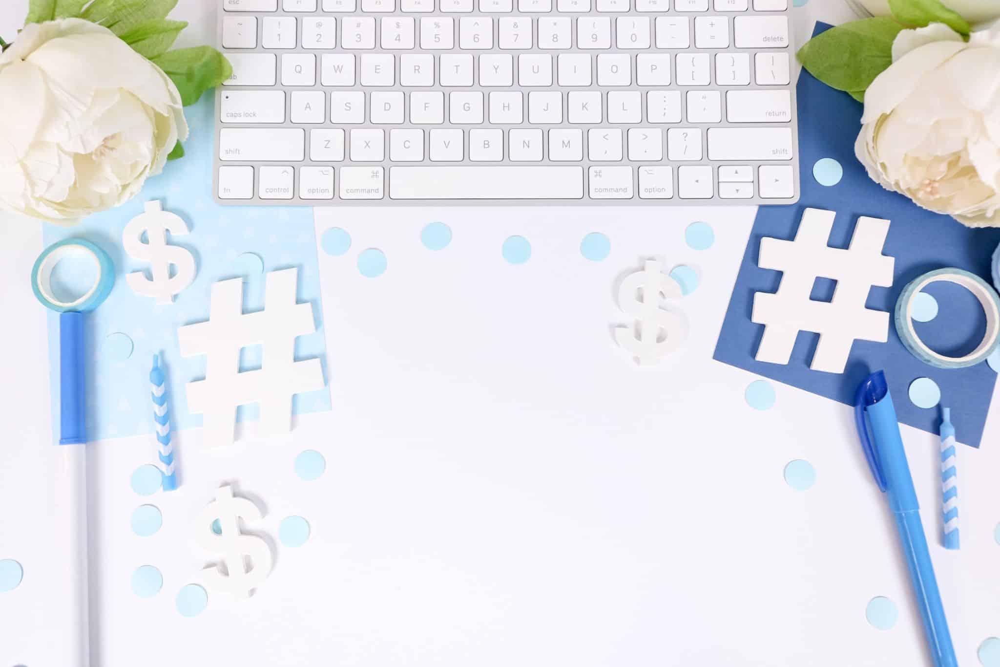 hashtag signs keyboard
