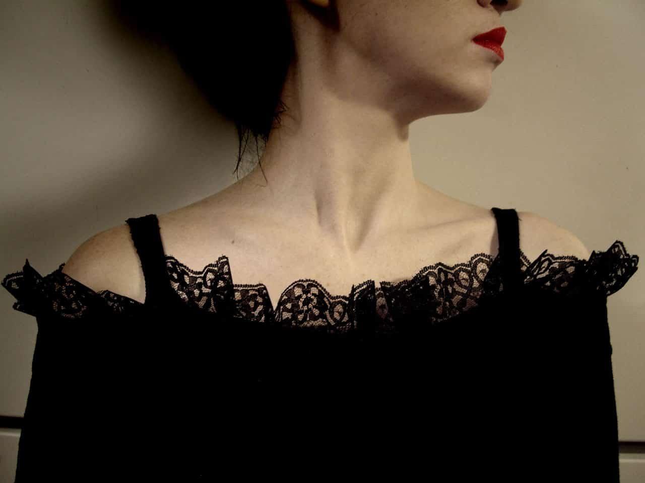 woman black dress