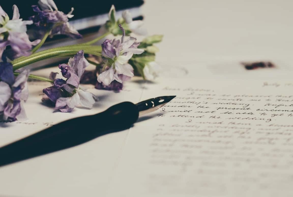 flower paper letter