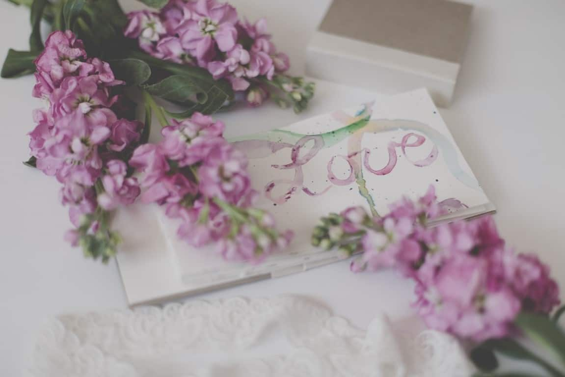 message letter flowers