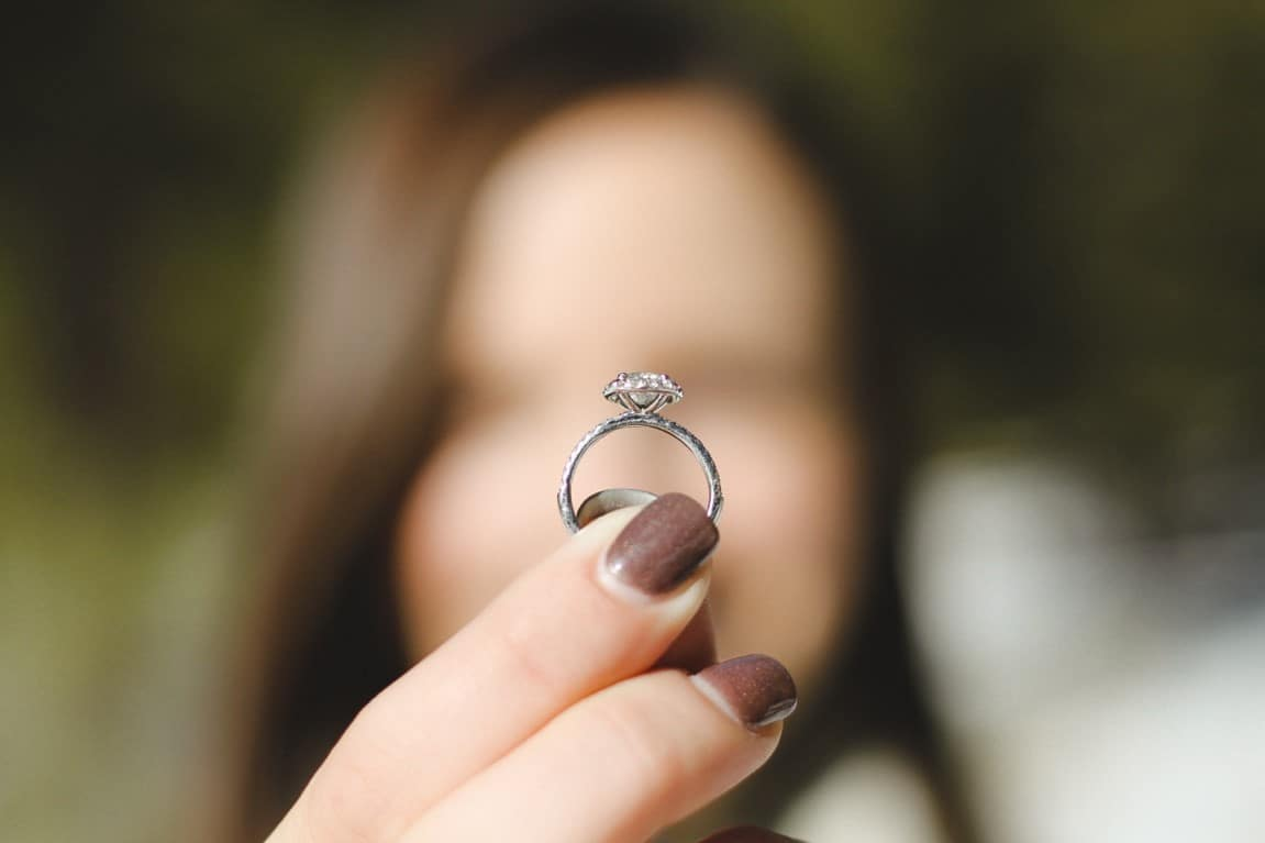 woman commitment ring