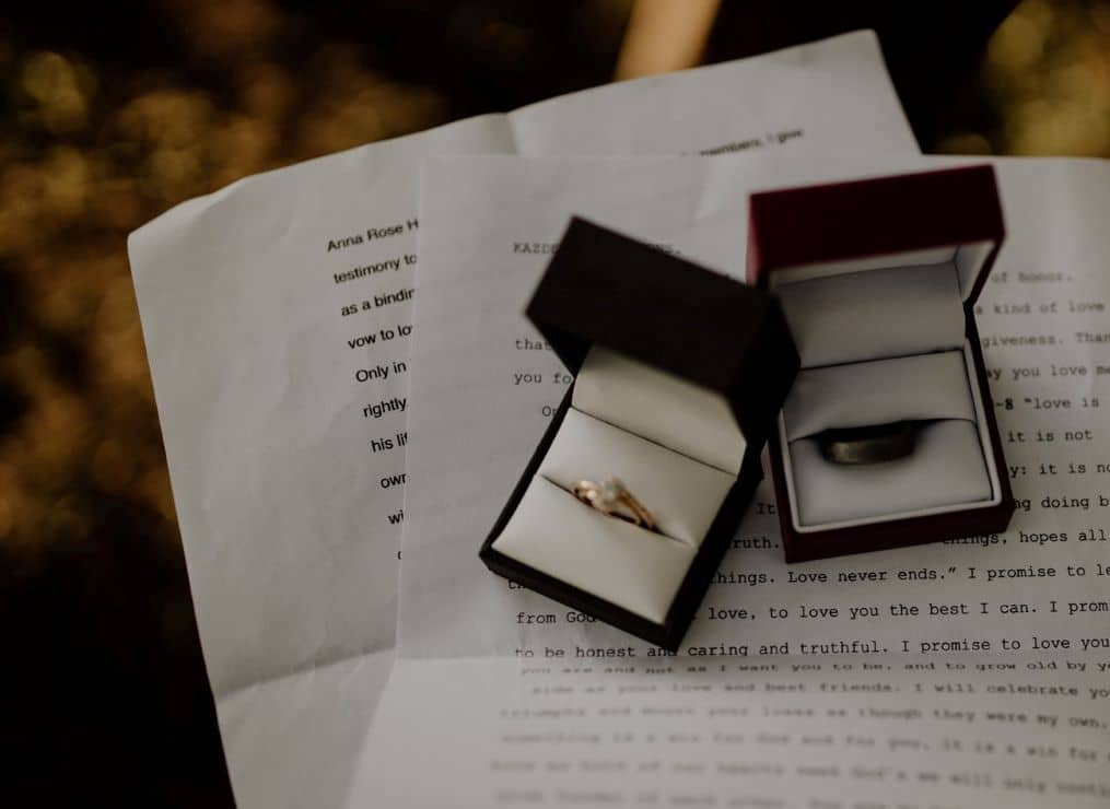 rings vows