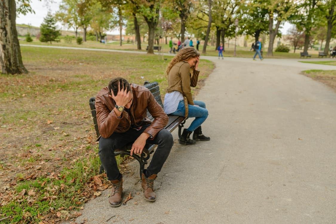 unhealthy couple bench