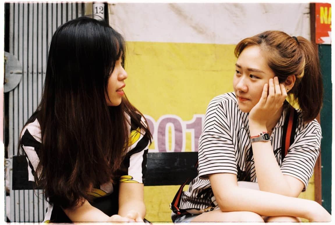 woman comforting friend