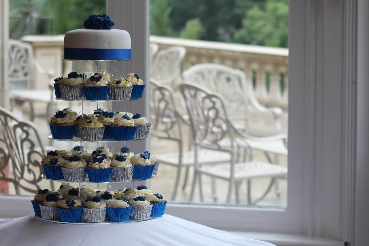 blue theme cupcakes