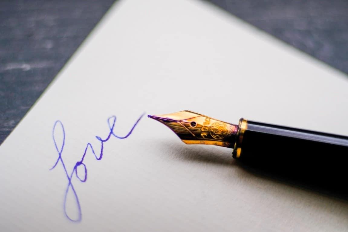 love writing pen