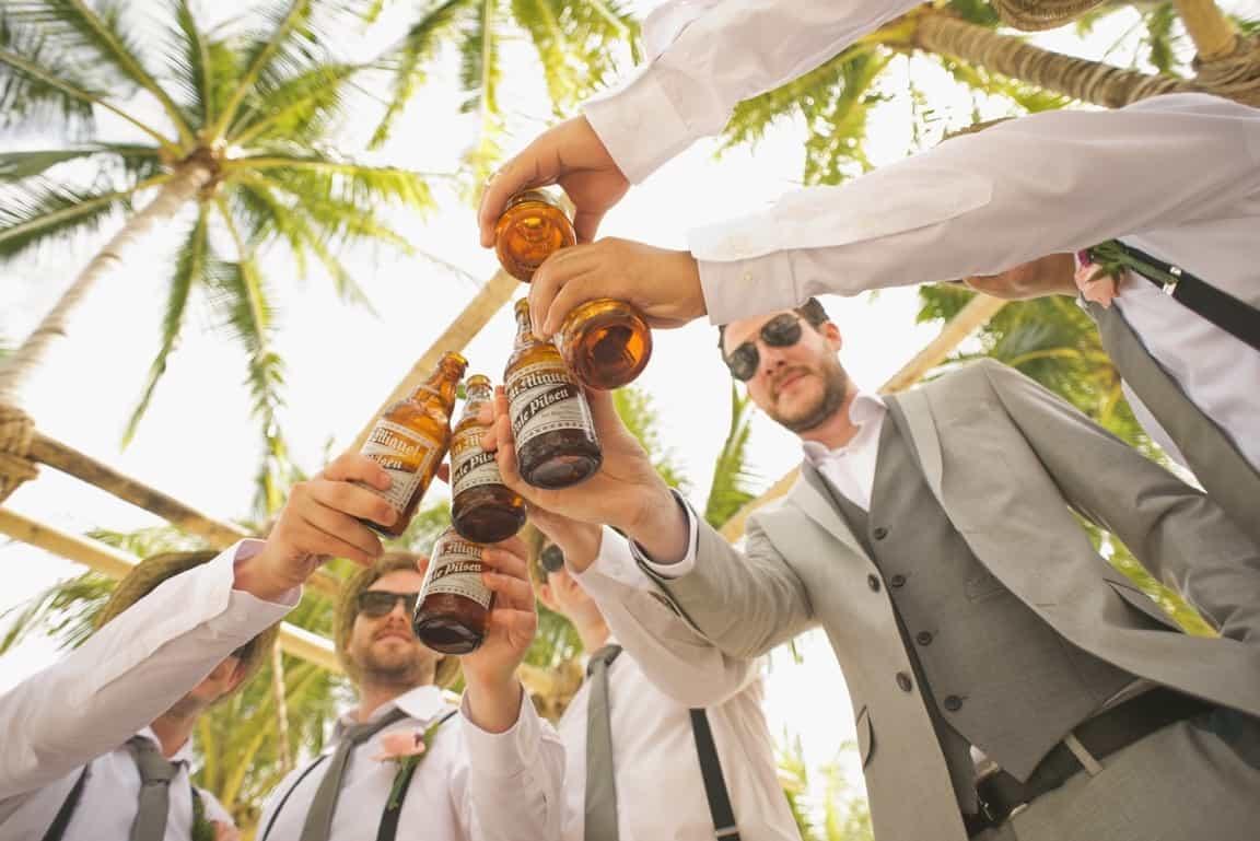 wedding reception beers