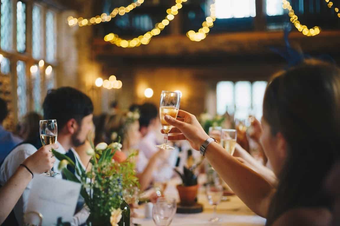 toast wedding event