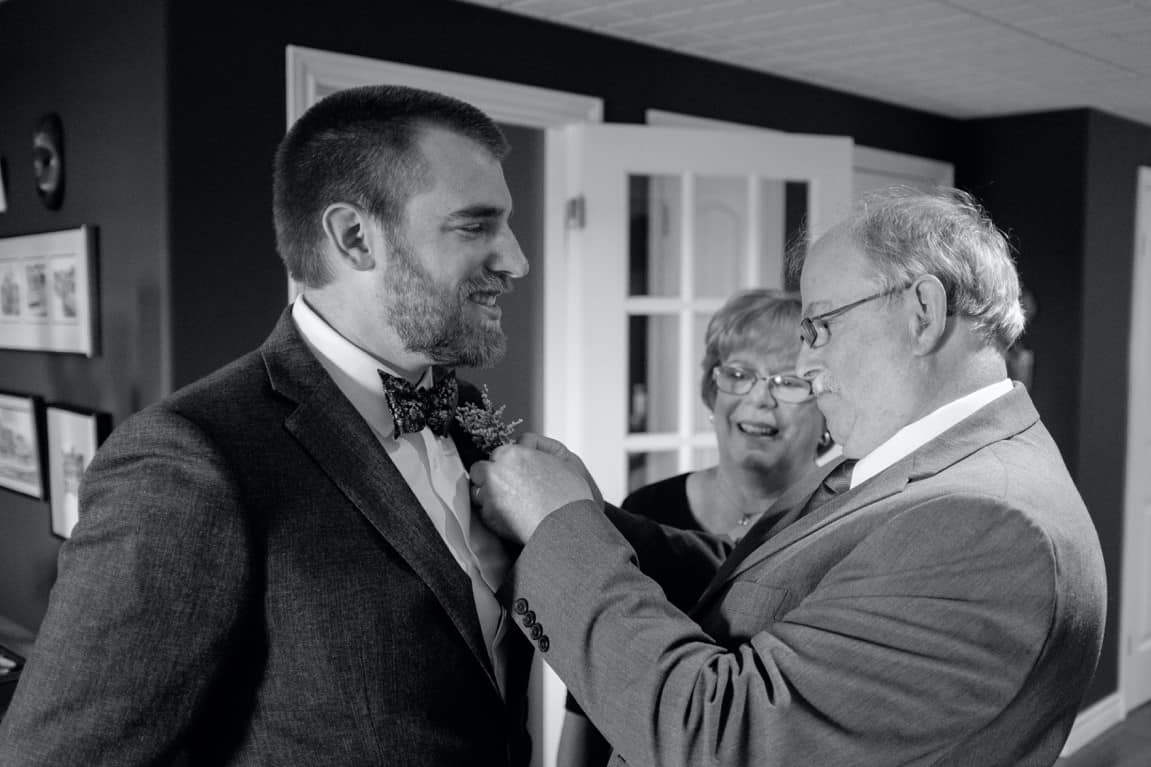 dad groom monochrome