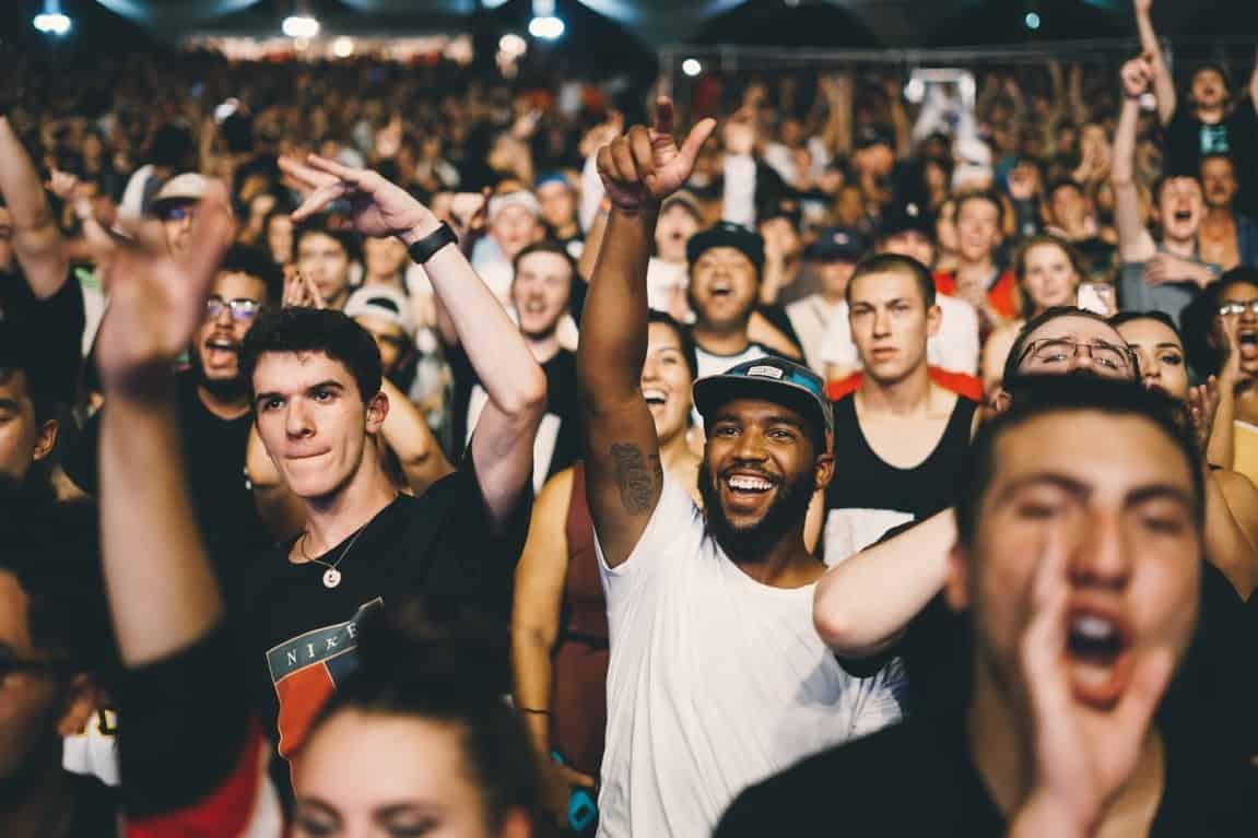 male audience festival