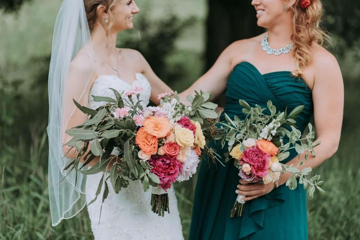 sisters in wedding