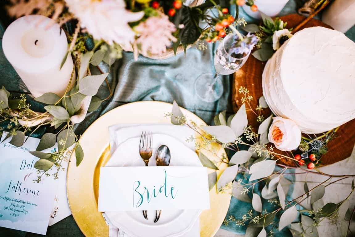 plate wedding