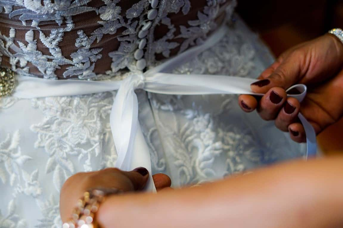 knot wedding gown