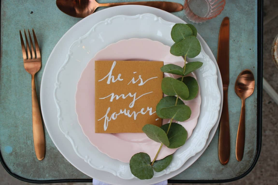 dinnerware wedding