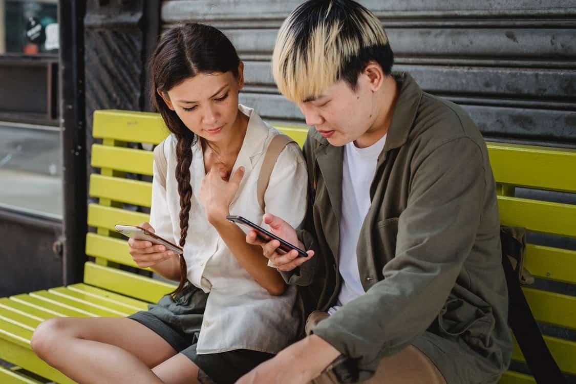 couple phones