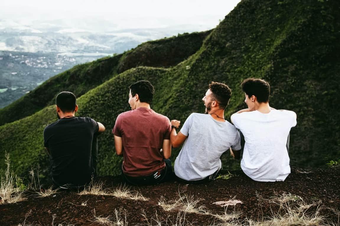 men friends sitting