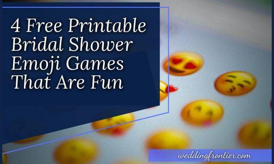 4 Free Printable Bridal Shower Emoji Games That Are Fun